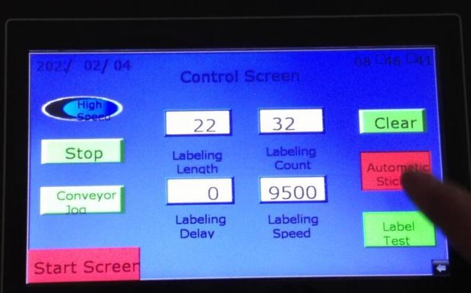 टर्नटेबल असलेले ऑब्जेक्ट मॅजिक आय डोमॅट स्वयंचलित डबल साइड स्टिकर लेबलिंग मशीन शोधा