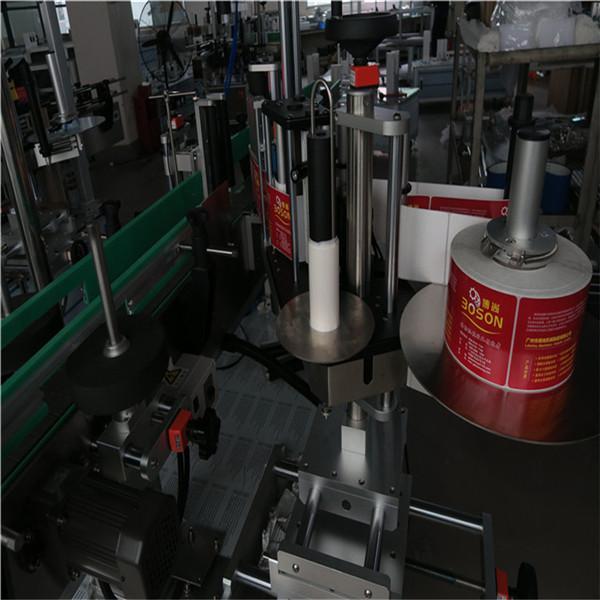 स्वयंचलित टू साइड बाटली लेबलिंग मशीन अॅडसेव्ह लेबल स्टिकर शैम्पू वाइन