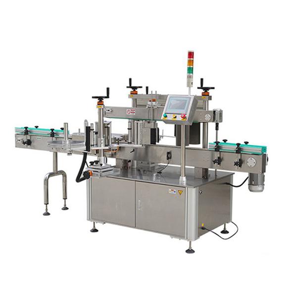 तारीख प्रिंटरसह स्वयंचलित गोल बाटली स्टिकर लेबलिंग मशीन