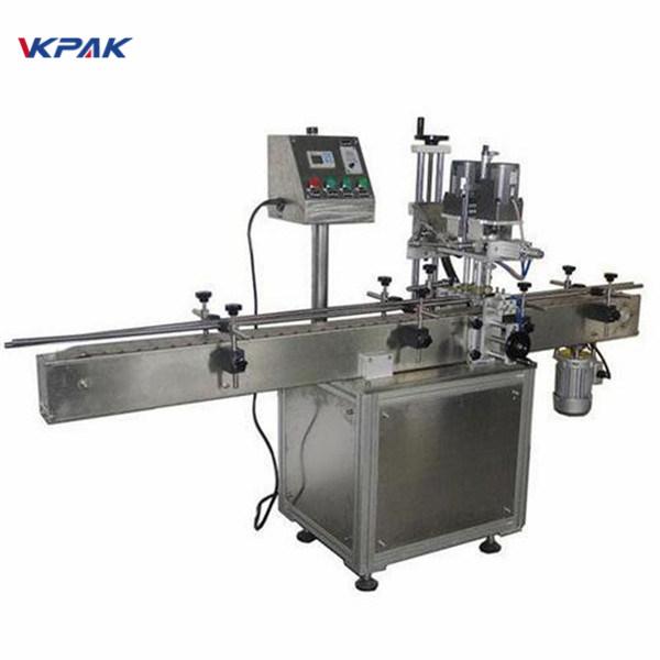कॉस्मेटिक्स उत्पादनांसाठी औद्योगिक दुहेरी बाजूची गोल बाटली लेबलिंग मशीन