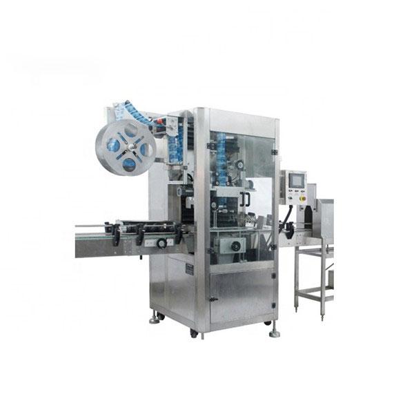 पीव्हीसी आकुंचन करा स्लीव्ह Applicप्लिकेटर मशीन पूर्णपणे स्वयंचलित संकुचित लेबल मशीन