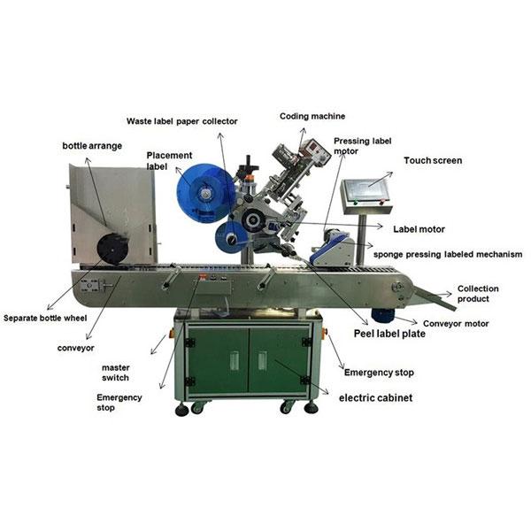 फार्मास्युटिकल वायल स्टिकर लेबलिंग मशीन 10-30 मिमी बाटल्यांचा व्यास