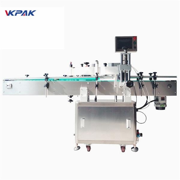 आयातित उच्च अचूकता मॅजिक आईसह गोल बाटली स्टिकर लेबलिंग मशीन