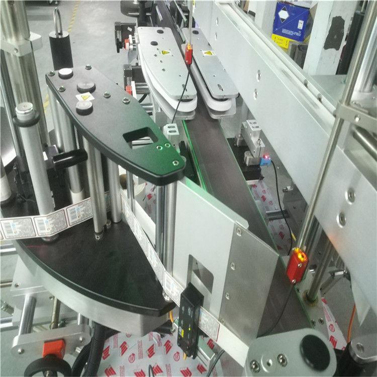 स्क्वेअर फेरी फ्लॅट बाटलीसाठी स्वयंचलित डबल साइड स्टिकर लेबलिंग मशीन