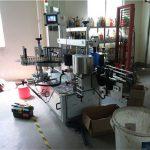 प्लास्टिक / ग्लास बाटली डबल साइड लेबलिंग मशीन, स्क्वेअर बाटली लेबलर