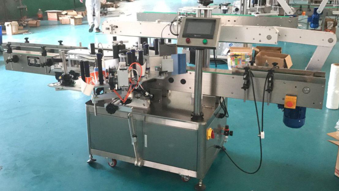 अचूक यंत्रणासह फ्रंट आणि बॅक साइड साइड लेबल atorप्लिकेटर मशीन