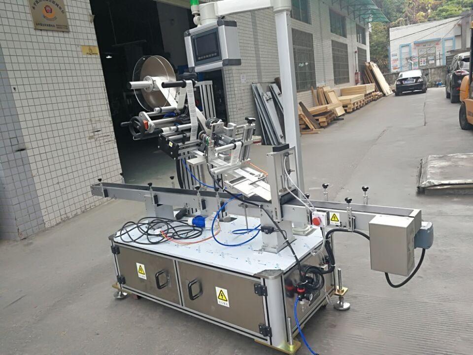 नोजल पाउच इलेक्ट्रिक ड्राईव्हन प्रकारासाठी स्टिकर टॉप लेबलिंग मशीन