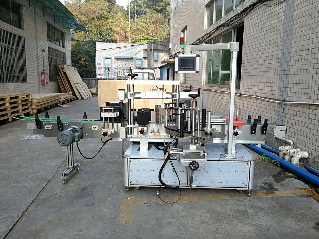 स्वयंचलित स्टिकर फ्लॅट बाटली लेबलिंग मशीन इंटिग्रेटेड फ्रंट एंड बॅक