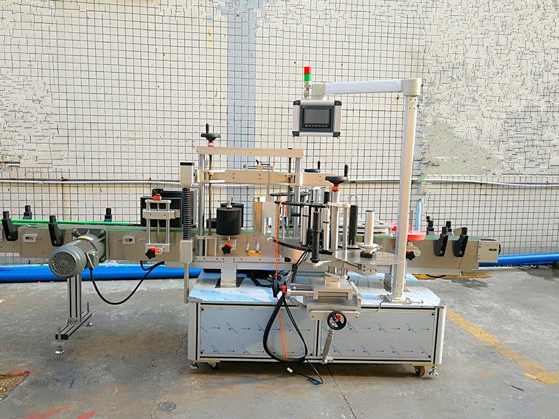 डबल साइडसह साधे स्वयंचलित फ्रंट आणि बॅक लेबलिंग मशीन